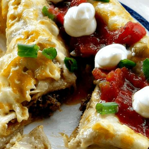 Creamy Spicy Beef Enchiladas Recipe