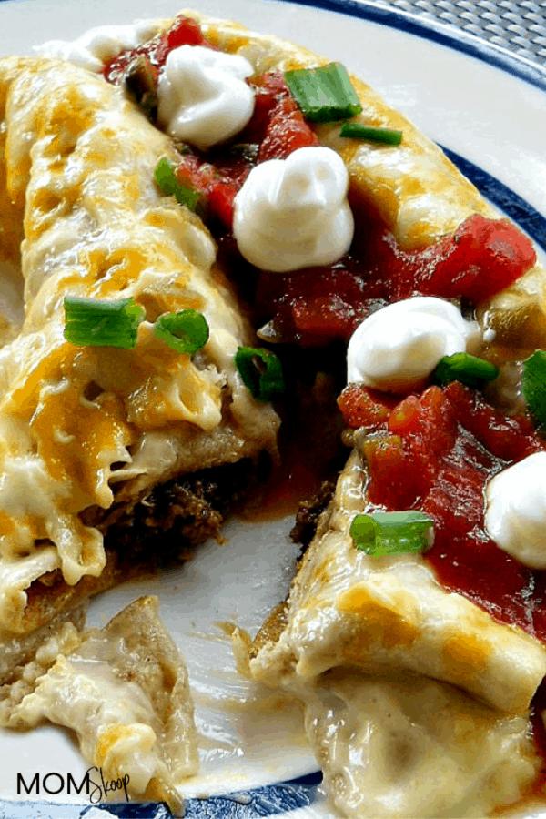Creamy Spicy Beef Enchiladas