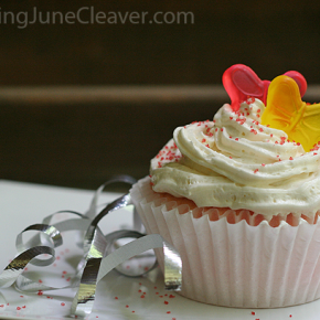 pink lemonade layered cupcakes butter cream frosting
