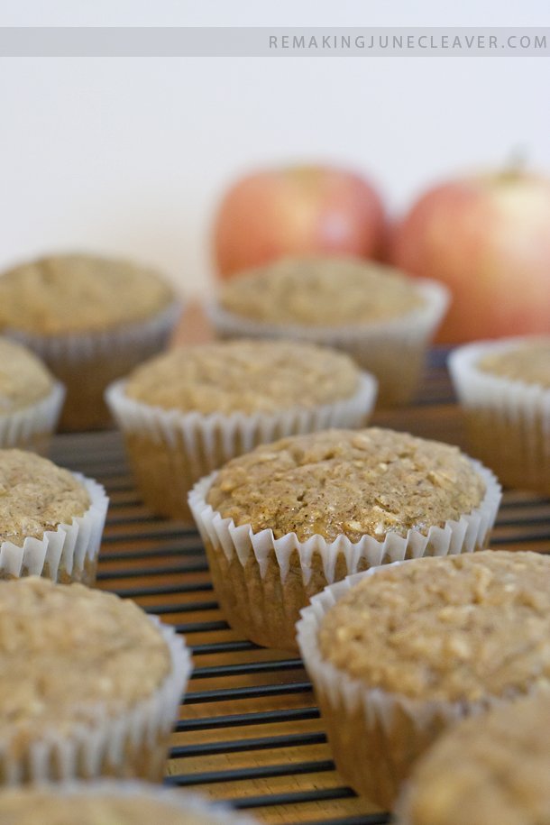 easy banana apple muffins