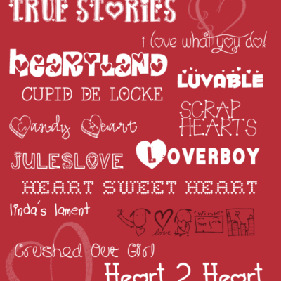 15 Free Fonts for Valentine's Day