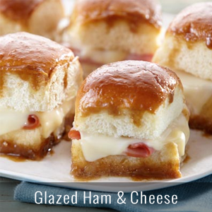 Glazed Ham and Cheese Party Sandwiches