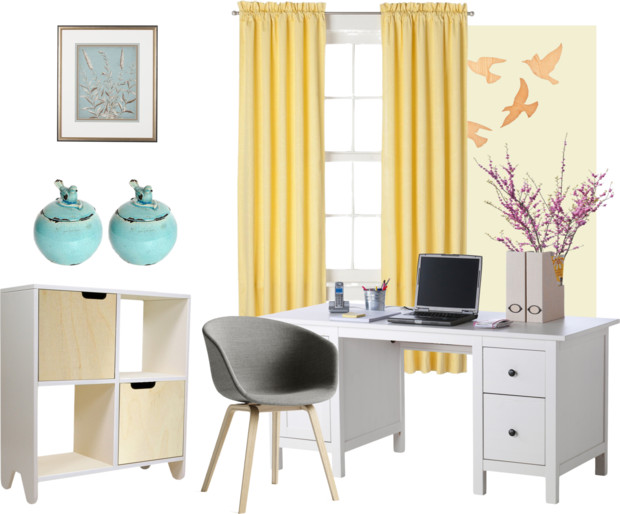 springtime home office - Sunday Style RemakingJuneCleaver.com