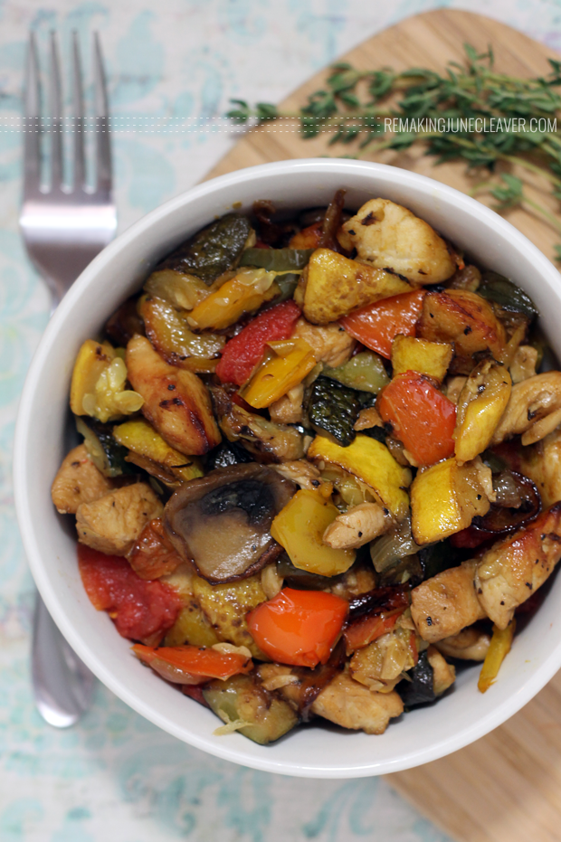 chicken mushroom ratatouille no eggplant paleo
