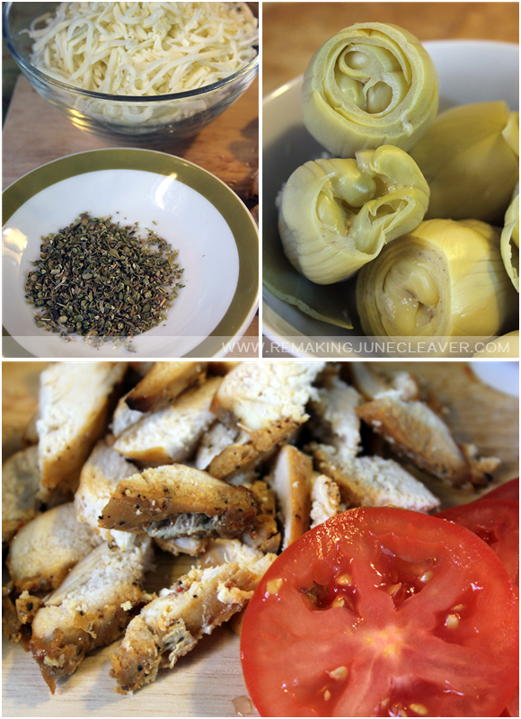 grain free smoked chicken artichoke pizza ingredients