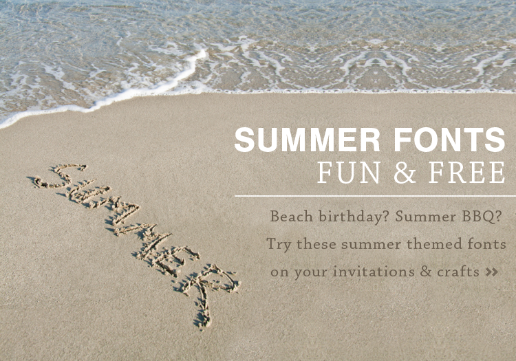 free summertime fonts crafts invitations