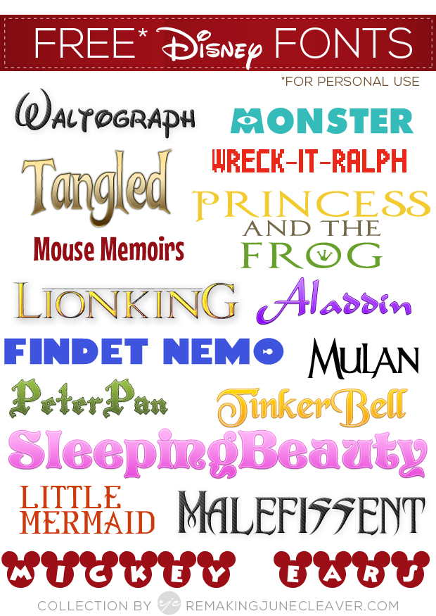39 Free Disney Fonts Moana Bfg Zootopia More Favorites
