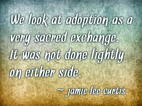 adoption jamie lee curtis