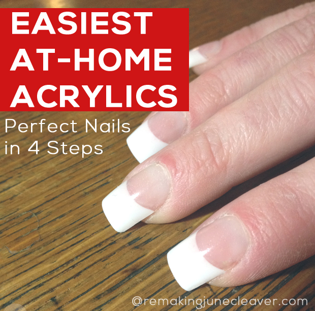 Easiest DIY Acrylic Nails | MomSkoop