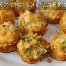 Cheesy Chicken Quinoa Bites