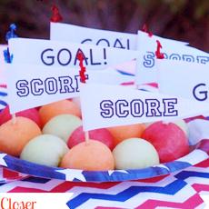 Melon Ball Soccer Snack