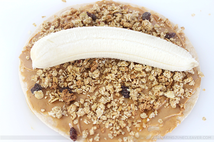 peanut butter banana granola rollups plus19 easy summer snacks