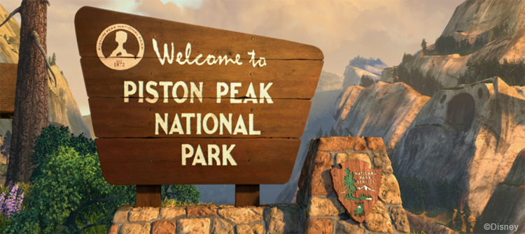 piston peak national park sign disney