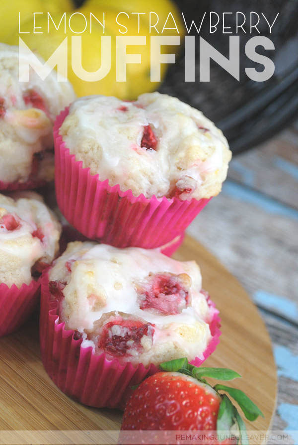 Lemon Strawberry Muffins Recipe Easy