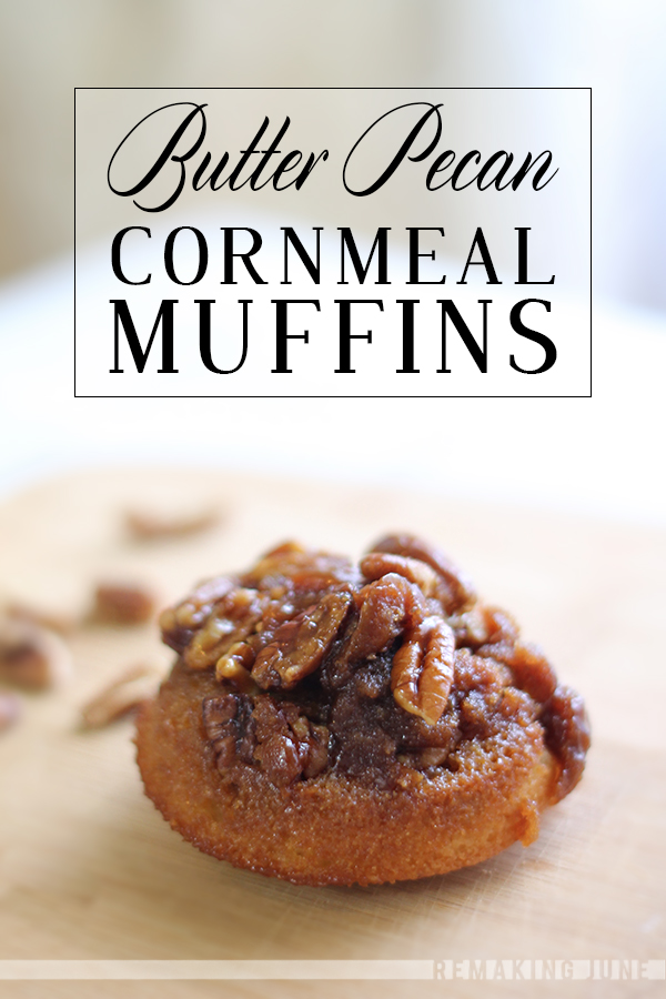 butter pecan cornmeal muffins