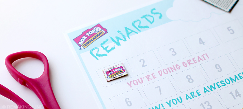 free printable boxtops reward sheet remakingjune