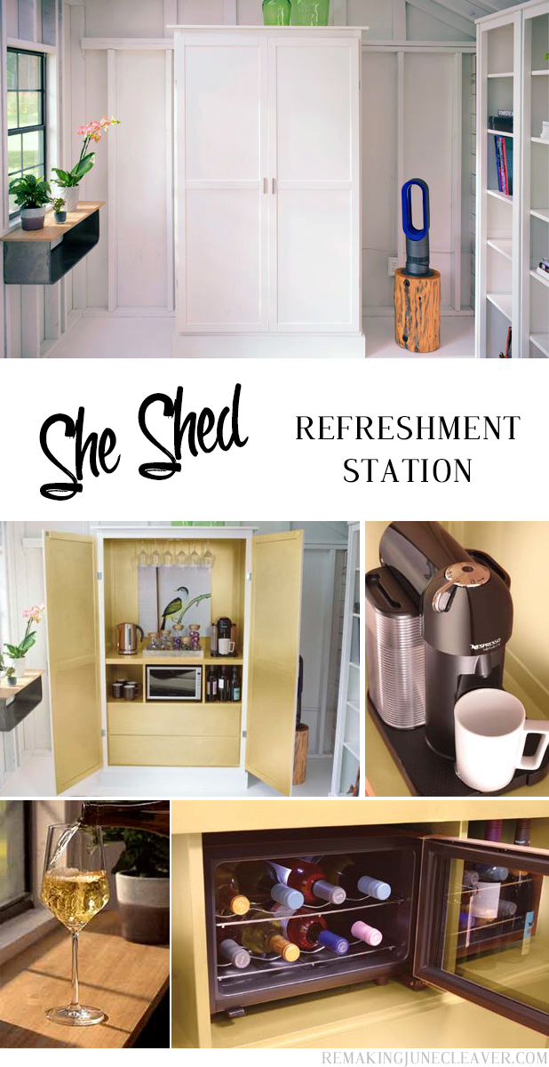 she shed refreshment station