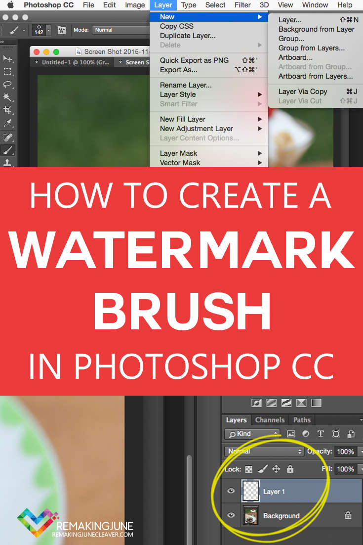HOW TO CREATE A WATERMARK BRUSH IN PHOTOSHOP CC