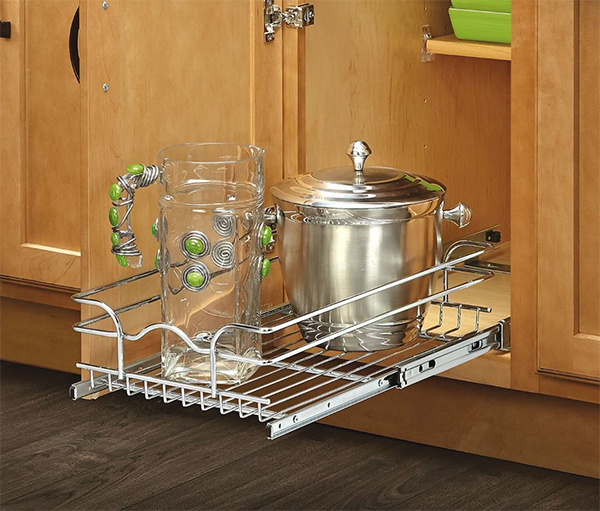 sliding shelf organizer