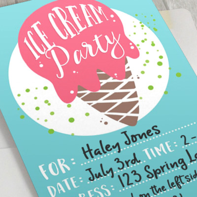 ICE CREAM PARTY TIME plus FREE Party Printables!