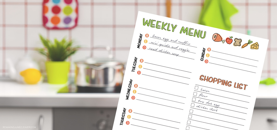 free printable weekly meal planner_0