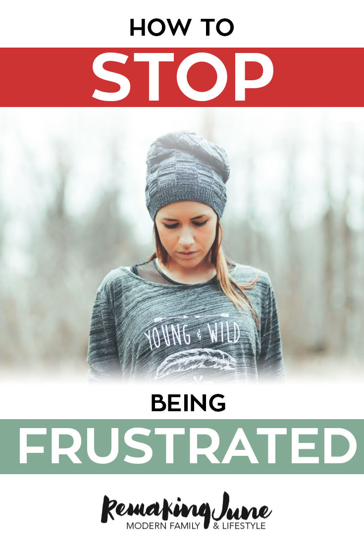 how to stop being frustrated