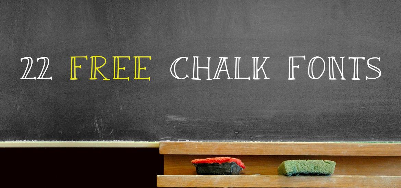 22 free chalk fonts