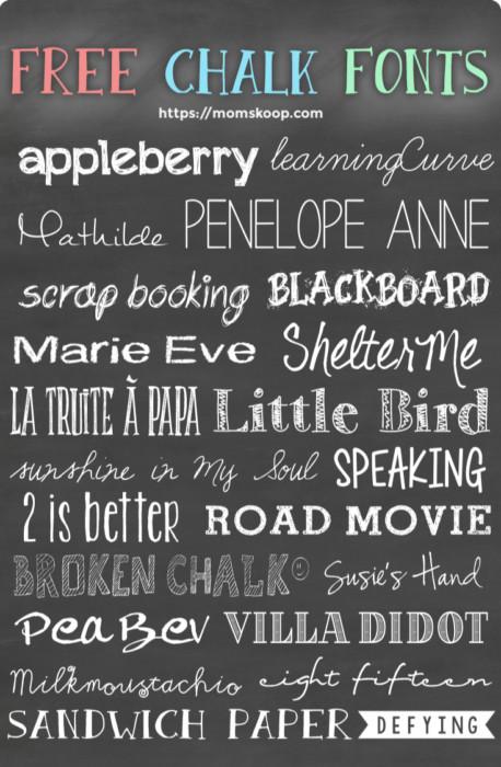 Free Chalk Fonts #fonts #backtoschoolfonts #backtoschool #freefonts