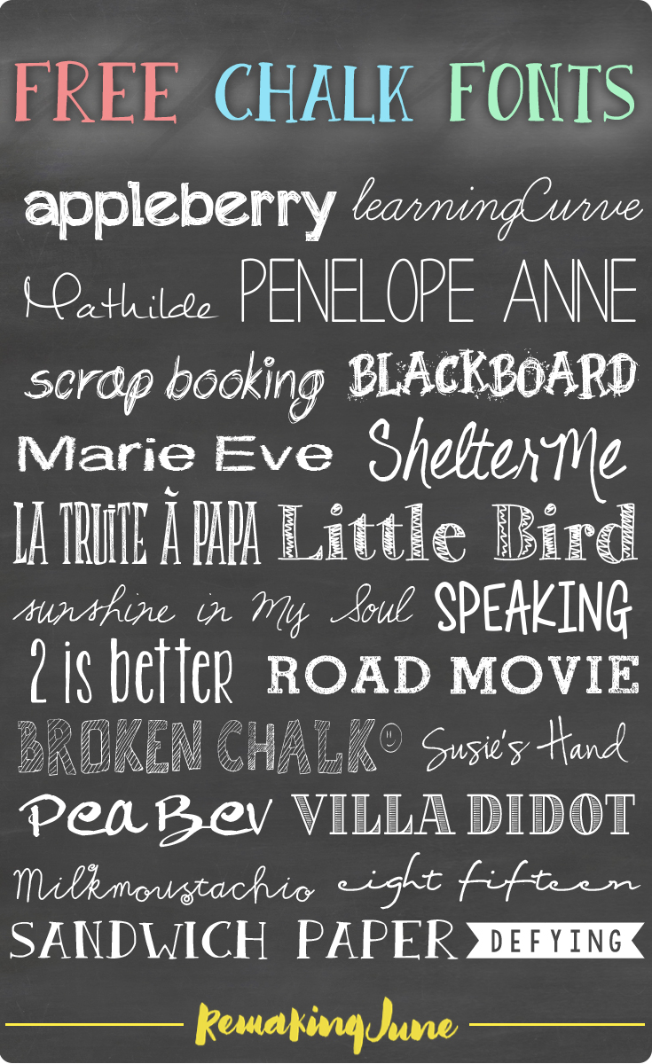 free chalk fonts