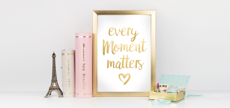 free motivational printables gold black