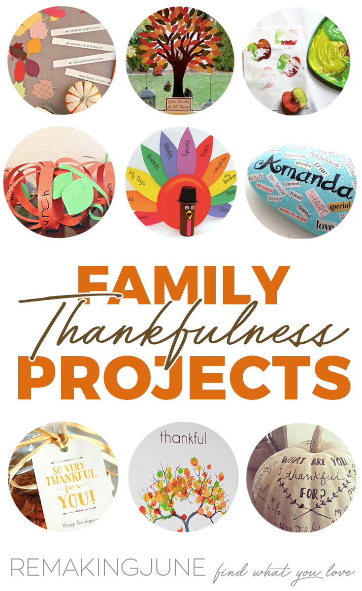 family thankfulness projects
