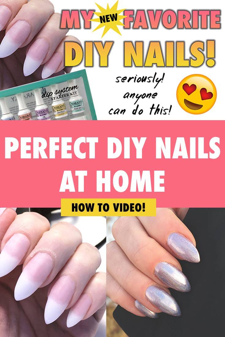 PERFECT DIY NAILS AT HOME EASY AND FAST