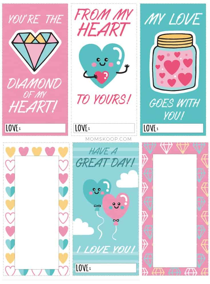 PRINTABLE LUNCHBOX LOVE NOTES 1