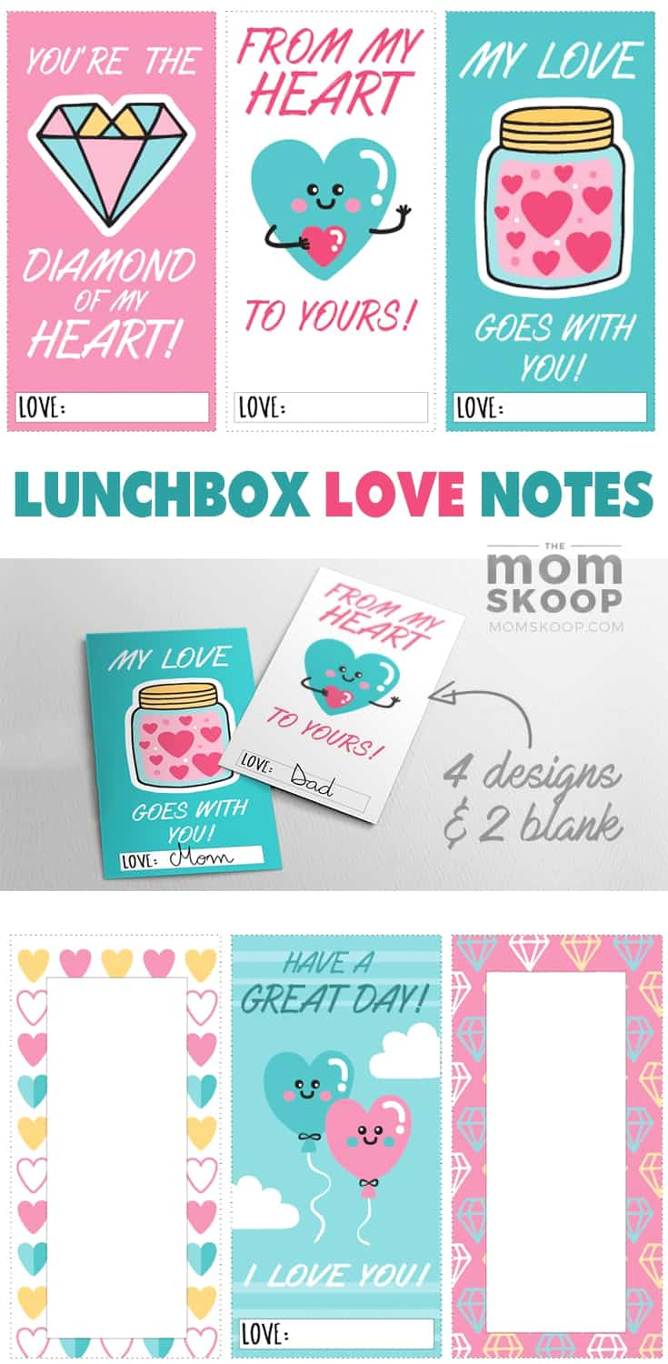 PRINTABLE LUNCHBOX LOVE NOTES FREE FOR VALENTINES DAY
