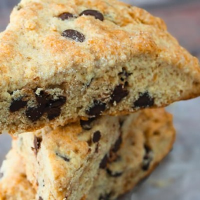CHOCOLATE CHIP SCONES – QUICK AND EASY FOR BRUNCH OR DESSERT