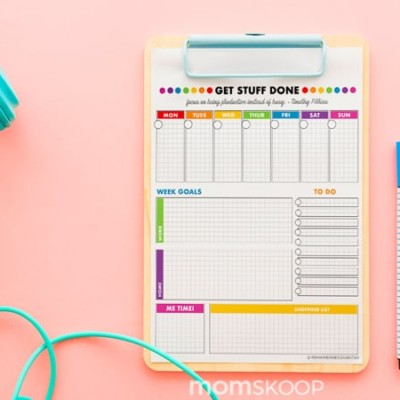 FREE PRINTABLE WEEKLY PLANNER – BRIGHT & BOLD
