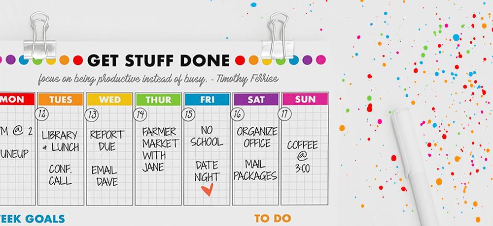 Free Printable Weekly Planner - Bright & Bold | Momskoop