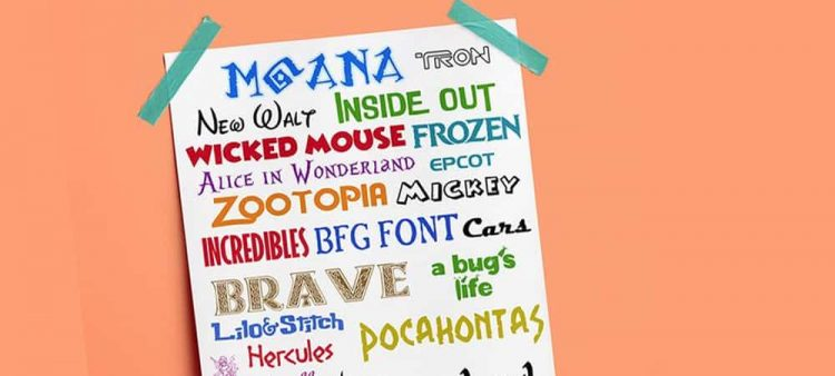 free disney fonts collection