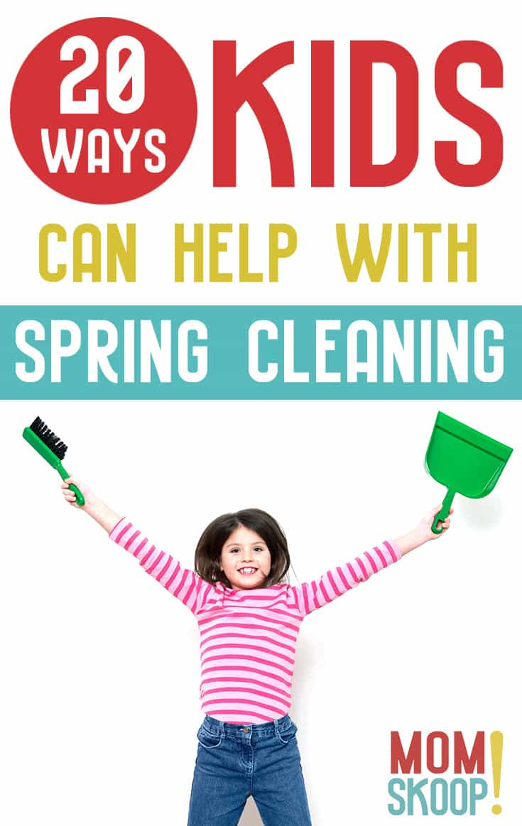 20 ways kids can help with spring cleaning