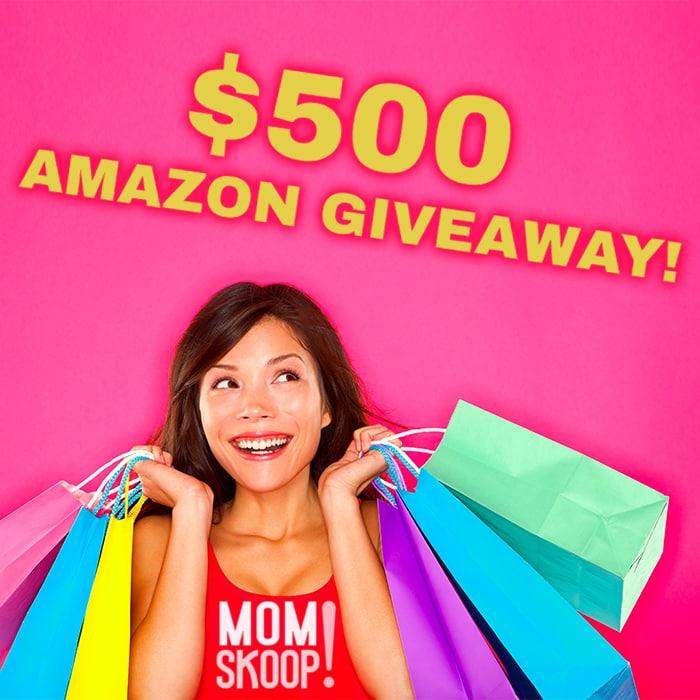 500 amazon giveaway on momskoop