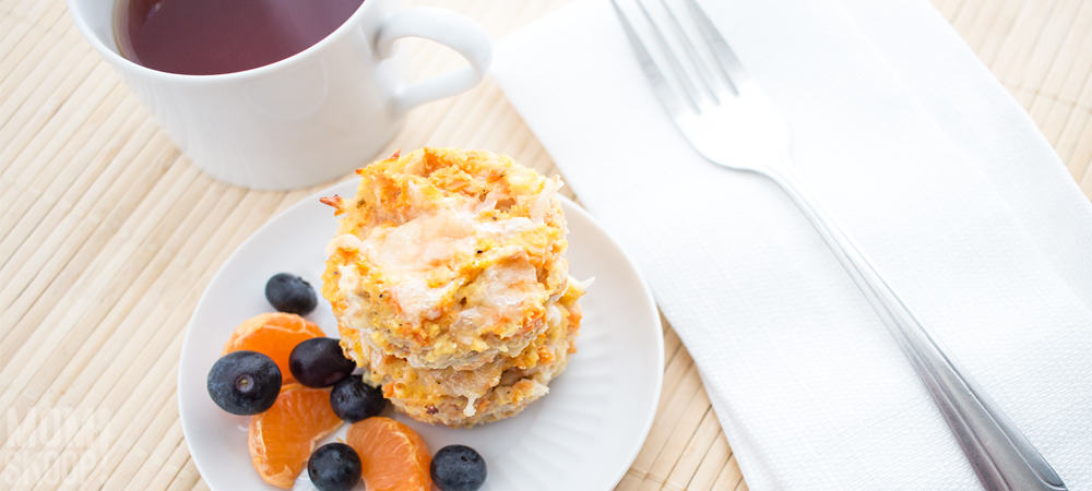 cauliflower and sweet potato breakfast muffins
