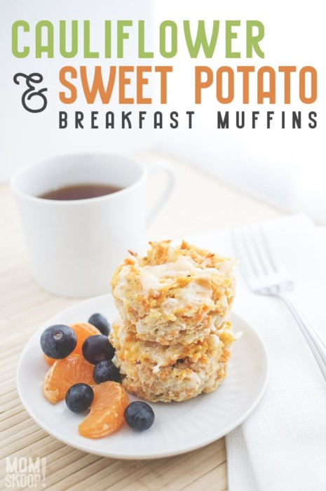 Cauliflower And Sweet Potato Breakfast Muffins Momskoop