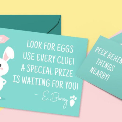 Adorable Easter Egg Hunt Printable Clues Kit