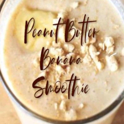 PEANUT BUTTER and BANANA CEREAL SMOOTHIE
