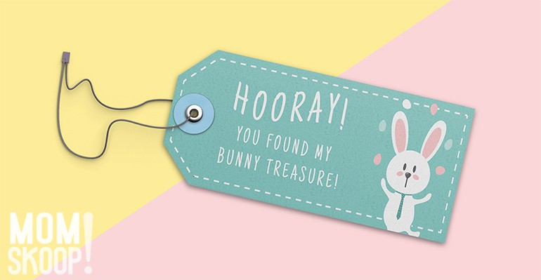 easter egg hunt basket tag