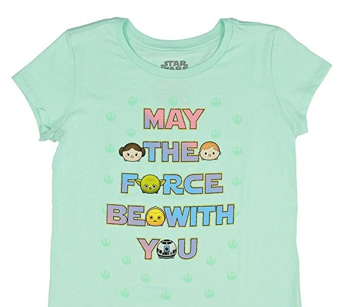 Star Wars Girls' Tsum Tsum May The Force Be With You T-Shirt