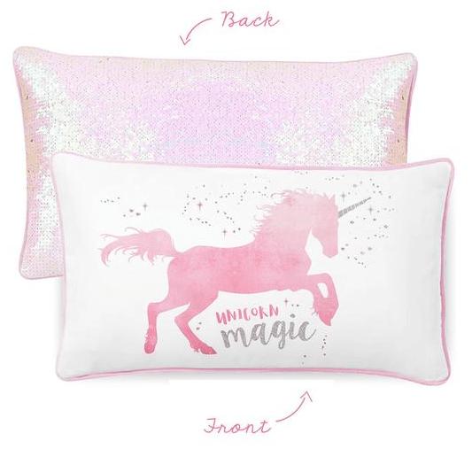 color change unicorn pillow