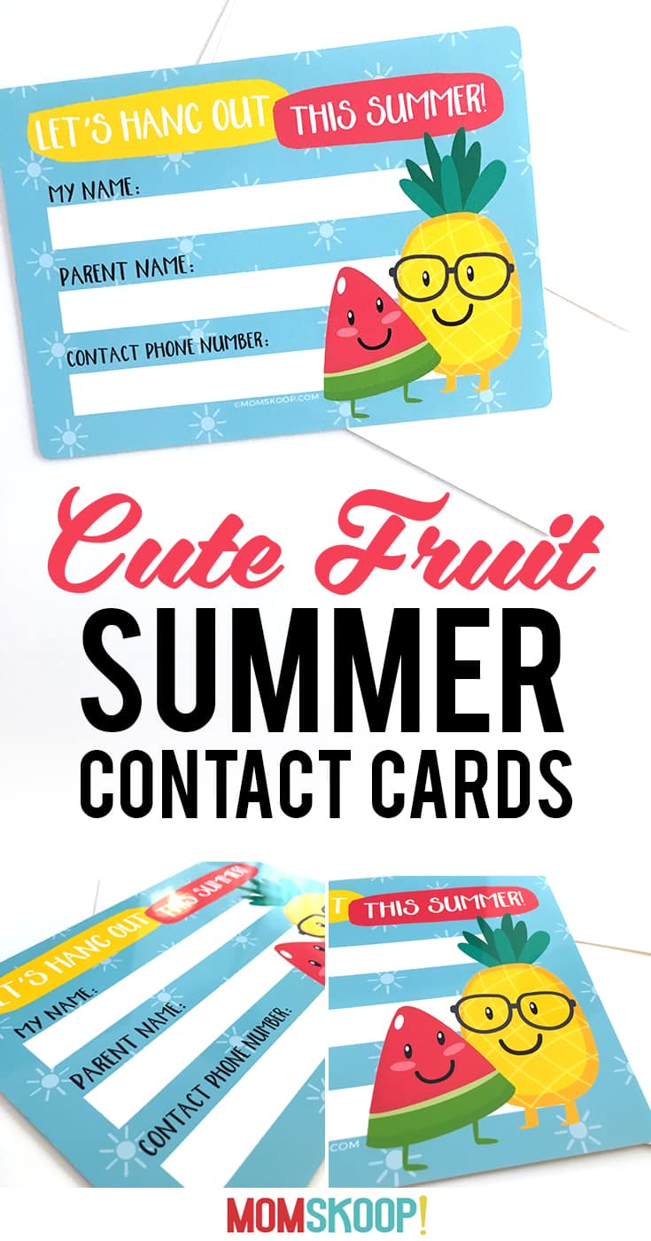cute fruit summer contact cards Free Printable from MomSkoop details1