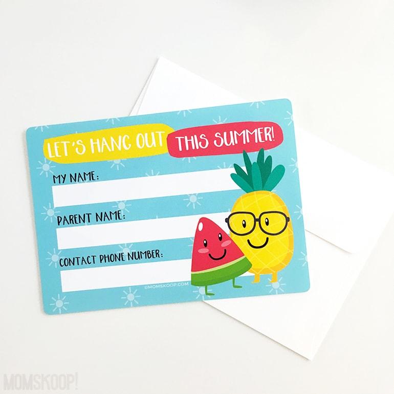 cute fruit summer contact cards momskoop clean