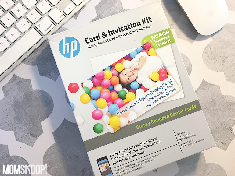 hp card invitation kit printing